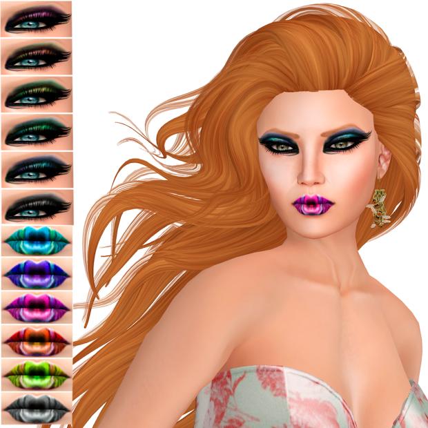 {MUA}  -  Eyeshadow Wing &  Lipstick  Peacock