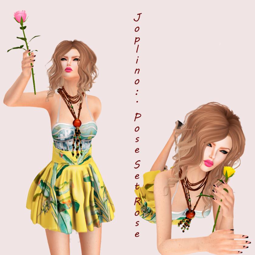 Joplino Pose Set Rose.