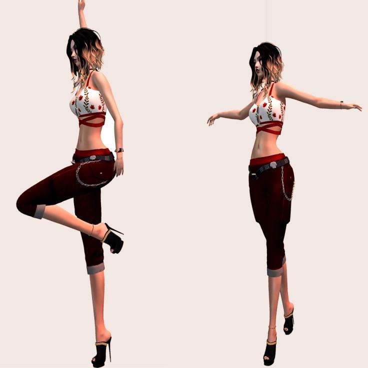 SnB Fashion - Karina Top & Capri Pants.